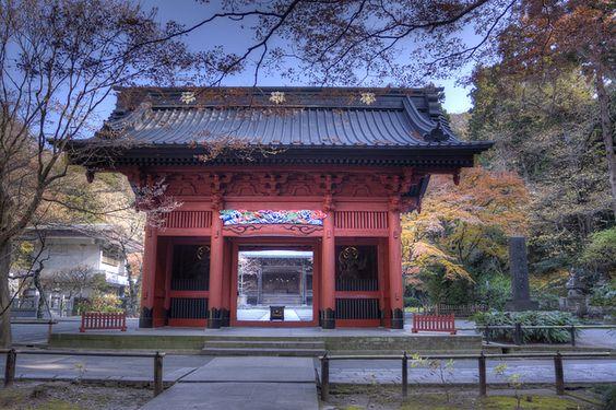 Myorenji gate in Kamakura Japan