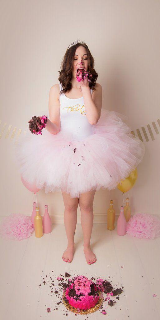 Adult Cake Smash Birthday Photos | POPSUGAR Moms: