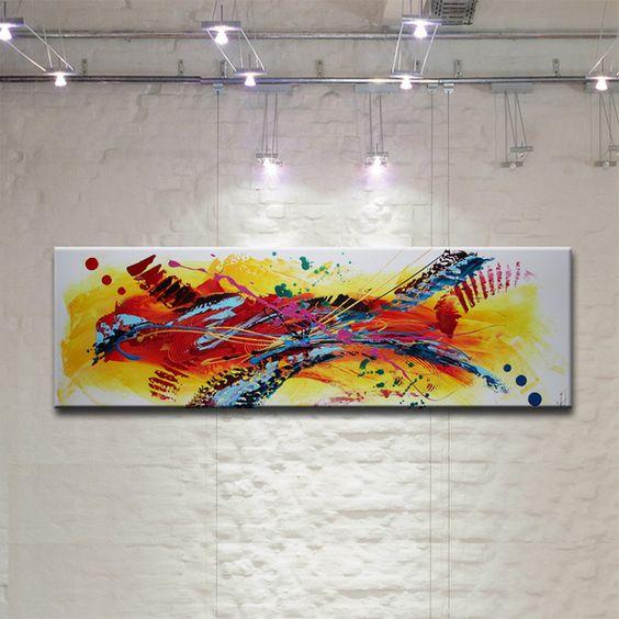 Peinture tableau oeuvre art abstrait sur toile toile art and products - Toile imprimee abstrait ...