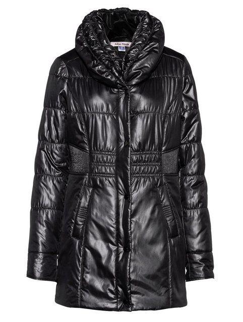 Jacke mit dezentem Glanz | Schwarz, Jacken und Mode