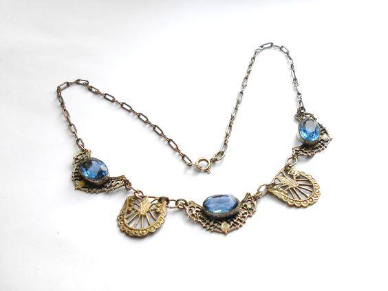 Art Deco filigree  necklace circa 1930