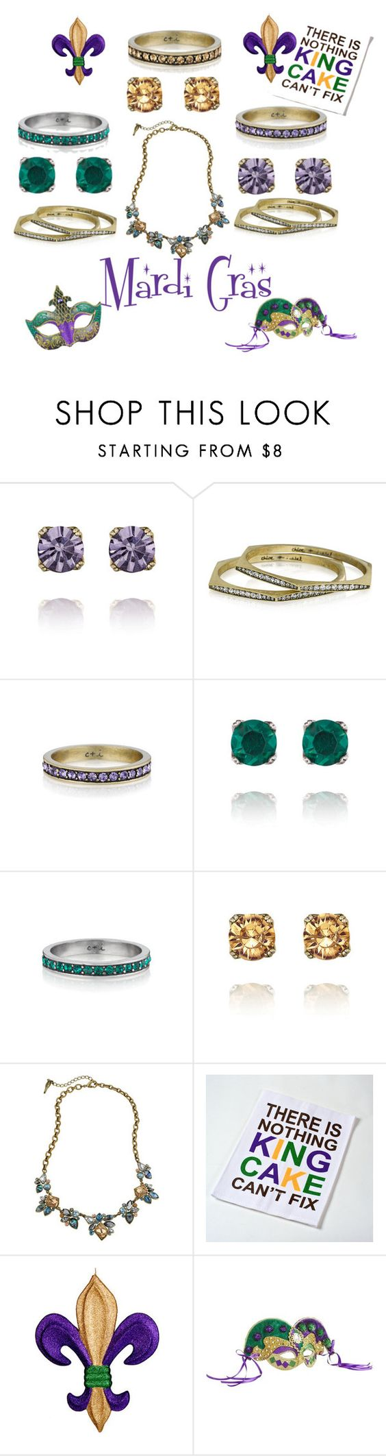 Mardi Gras with Chloe + Isabel by la-guajira on Polyvore. You can Shop all jewelry in my boutique xiomarad.chloeandisabel.com #mardigras #Fattuesday #women