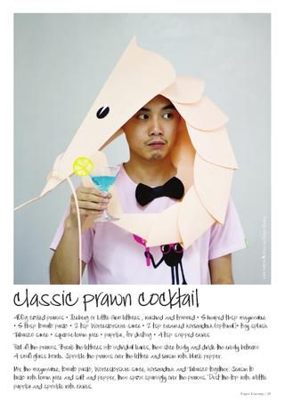 Prawn cocktail costume, like I need an excuse to drink cocktails all night.