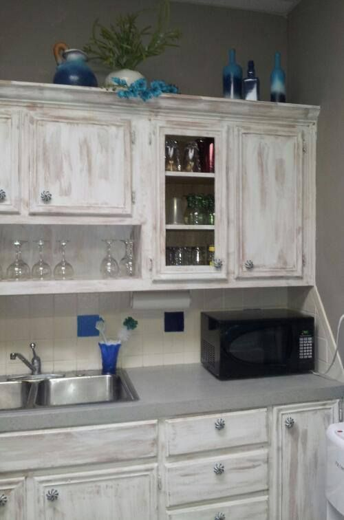 Distressed Kitchen Cabinets, White Washing Laminate Cabinets