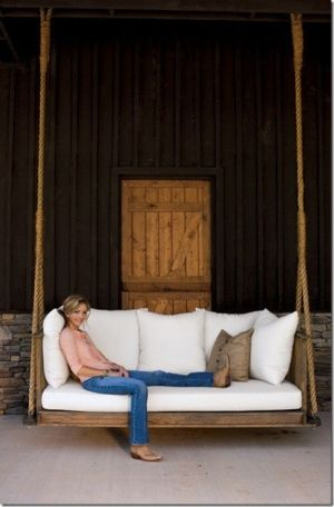 Now THAT is a porch swing - or is it a barn swing?