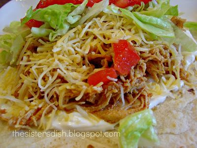 The Sisters Dish: Crock Pot Chicken Ranch Tacos
