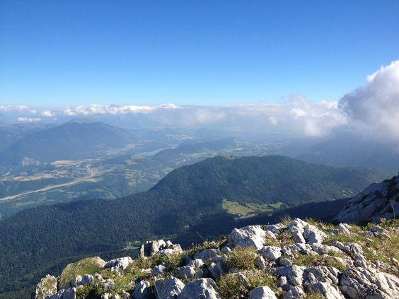 Autre vue depuis le Pas de l'Oeille dans le massif du Vercors - Aout 2013