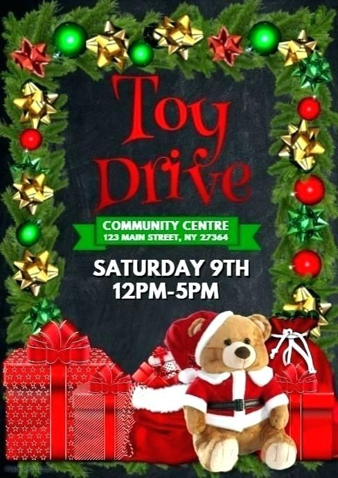 Free Food Drive Flyer Templates Christmas Toy Drive Flyer Christmas Flyer Christmas Toy Drive