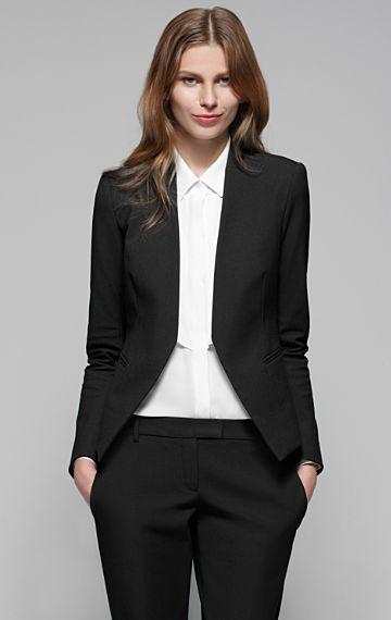 Theory Lanai Stretch Cotton Modern Blazer