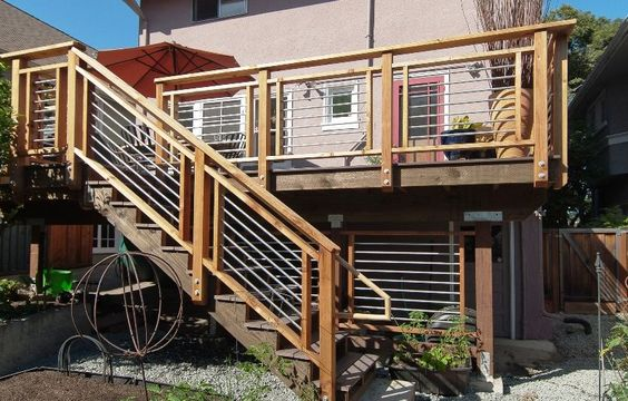 deck railing ideas | Cool-looking, Cost-efficient Deck Design