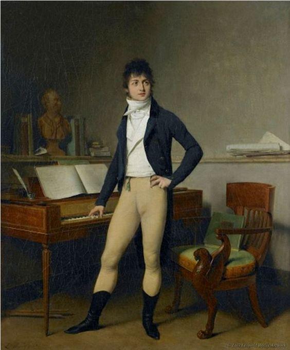 Portrait of Francois Adrien Boieldieu by Louis Leopold Boilly.: