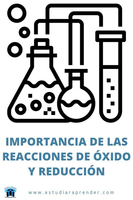 importancia de las reacciones de oxido y reduccion