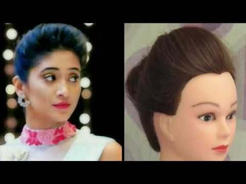 Easy Party Hairstyle Inspired By Naira Simple Front Puff Making On Thin Hair With Tricks For Girls Easy Party Hairstyles Front Hair Styles Party Hairstyles