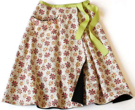 "wrap skirt tutorial - this is pretty cool, and has ""beginner"" and ""advanced"" levels in the instructions."