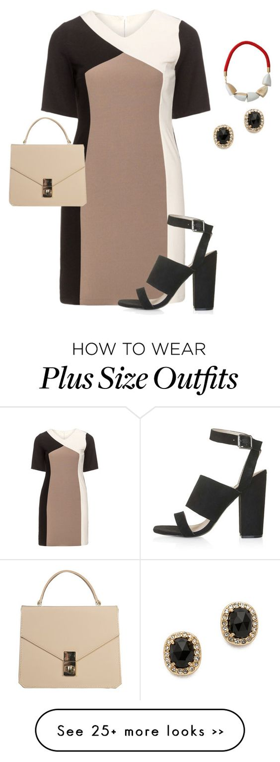 """plus size simple brunch day out"" by kristie-payne on Polyvore"