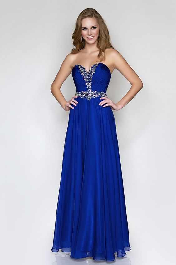 blue-prom-dresses-long- | Blue Prom Dress | Pinterest | Fashion ...