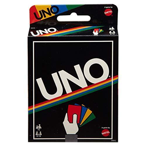 Mattel Games Uno Retro Editon Uno Card Game Classic Card Games Card Games