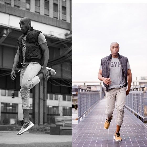 Get this look: http://lb.nu/look/7289098  More looks by Jefferey Spivey: http://lb.nu/jeffereylamar  Items in this look:  Gap Gym Tee, Gap Joggers