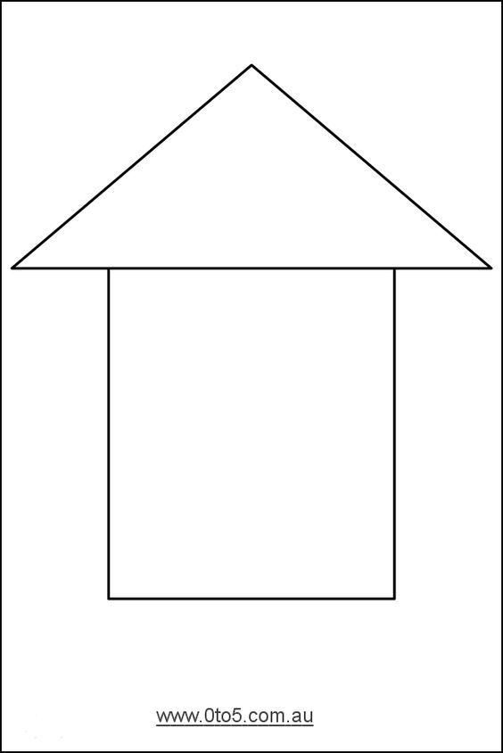 free printable house templates | Printable template ...