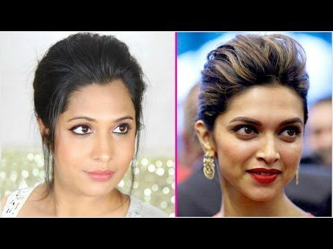 2 Minute Easy Braided Bun Hairstyle For Diwali Kareena Kapoor Easy Updo Indian Braided Bun Diwali Easy Ha In 2020 Indian Hairstyles Bun Hairstyles Hair Styles