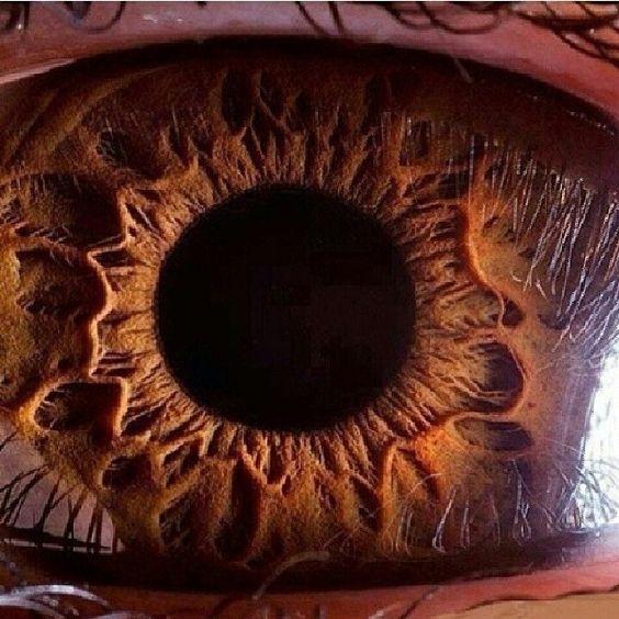 olho castanho