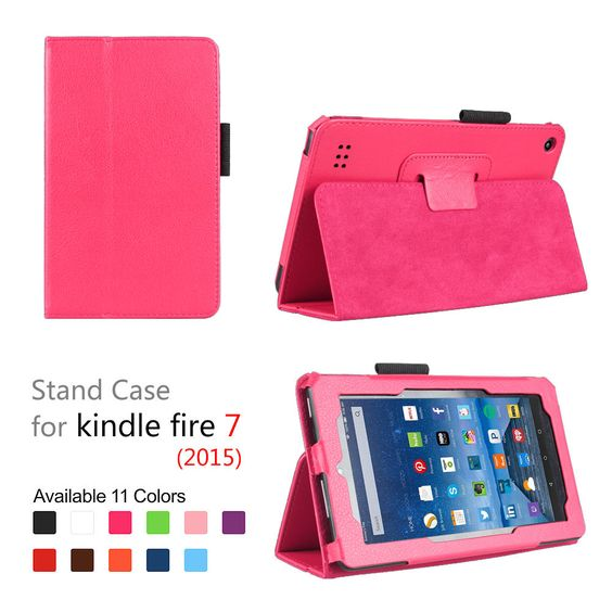 """Kids Shockproof Leather Folio Case Cover with Stand For Kindle Fire 7"""" Hot PINK https://t.co/gTGSszz3bI https://t.co/0ocW2V7gXR"""