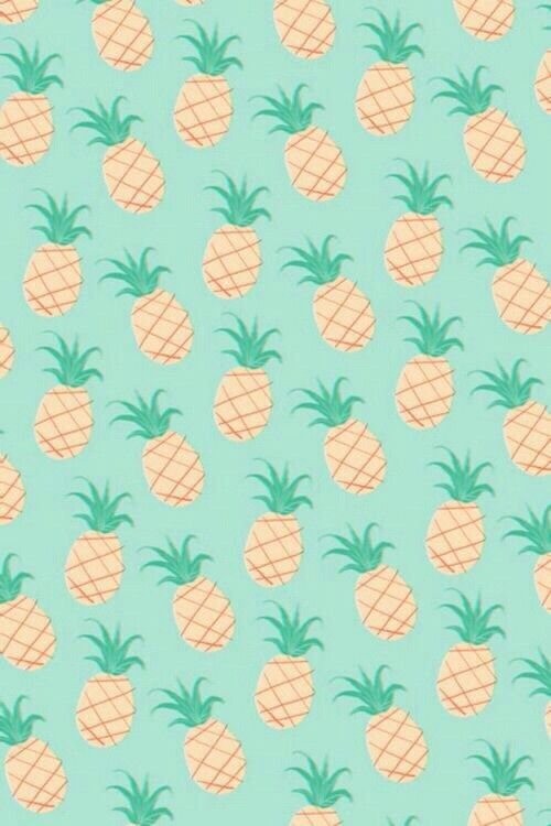 background, cute, hipster, iphone, mint, pastel, pineapple, wallpaper