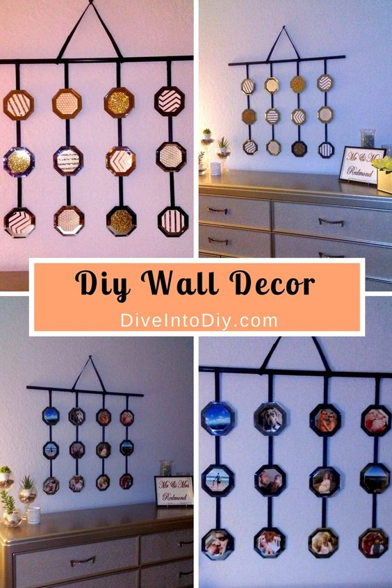 Wall Decor Using Mirrors : This diy wall decor is made from simple items dollar
