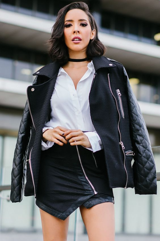 Keep It Quilted Leather Sleeve Jacket