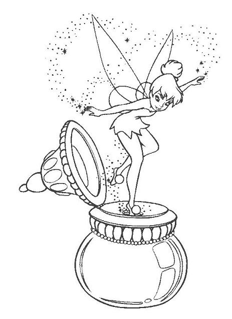 Tinkerbell Coloring Pages for Kids Free Tink Pinterest