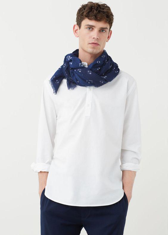 Fular algodón estampado | MANGO MAN