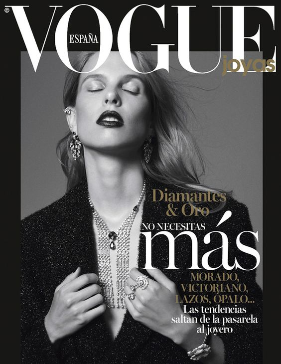 Lina Berg by Philip Gay for Vogue Spain December 2016 Cover