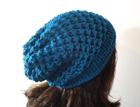 Loom Knit Spiral Slouchy Beanie Hat Pattern Video Tutorial Etsy Loom Knit Hat Loom Knitting Patterns Loom Hats