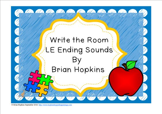 Write The Room LE ending sounds (ble, cle, dle, fle, gle, kle, ple, sle, and tle) is perfect for 2nd, 3rd, and 4th graders. Children write the room as they find pictures of things with the ending LE sound. (10 total) and write the whole word on the worksheet or just the sound. This is perfect for reading centers or early finishers and will get your students up and moving!