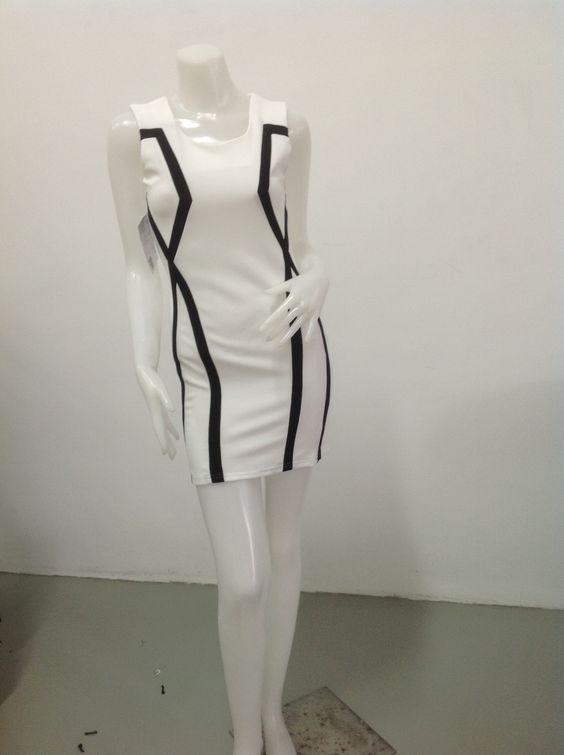 Dress with black and white combination