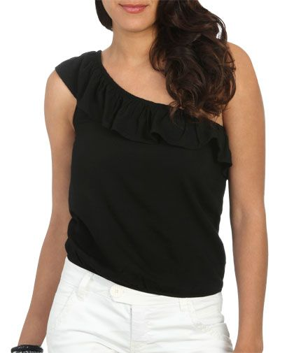 One Shoulder Ruffle Top from WetSeal.com... #WetSealSummer  #Contest