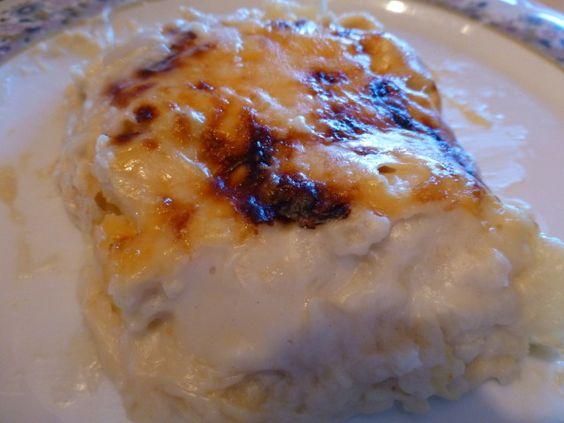 Coliflor con bechamel al horno y queso rallado
