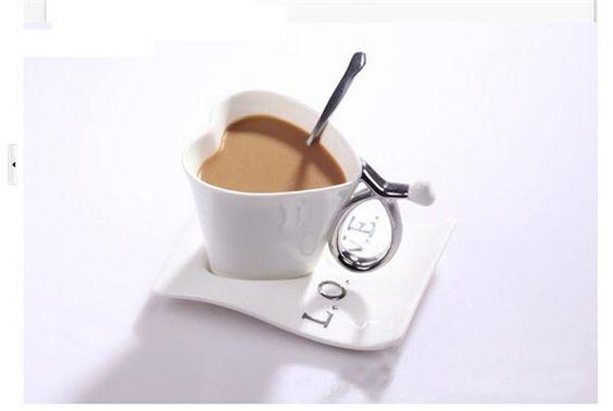 Aliexpress.com: Compre 2015 amor Continental criativo xícara de cerâmica caneca amantes copo moda caneca de café com 10 * 13.7 cm 450 g H 155 de confiança copa do aquecedor fornecedores em NO.1 Kitchen Supply Mall