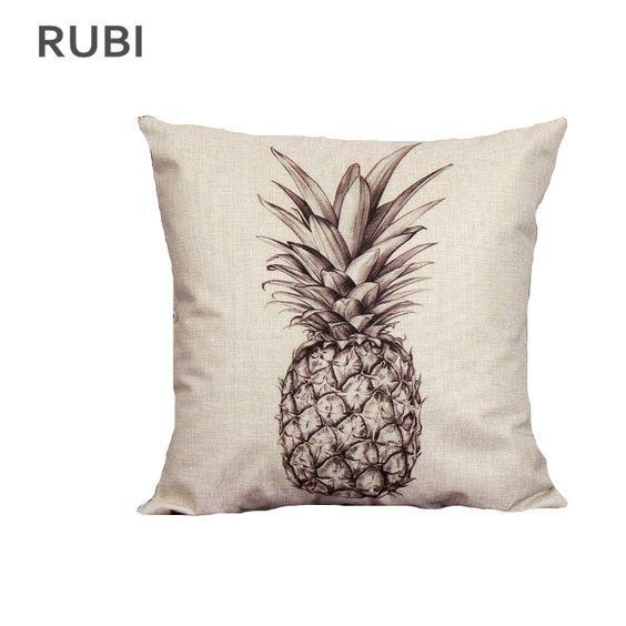 pas cher ikea ananas coussin sans intrieurs dcoratifs coussins home decor cojines almofada 45 cm hot - Coussin Color Pas Cher