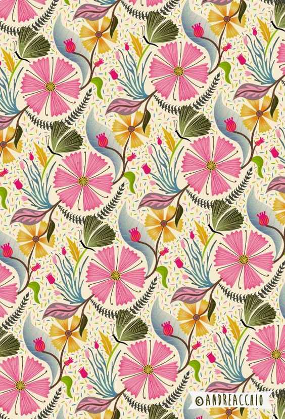 Sarah Andreacchio repeat floral pattern: