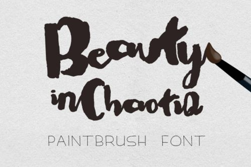 Chaotic Digital Font Modern Paint Brush Font Get Them At