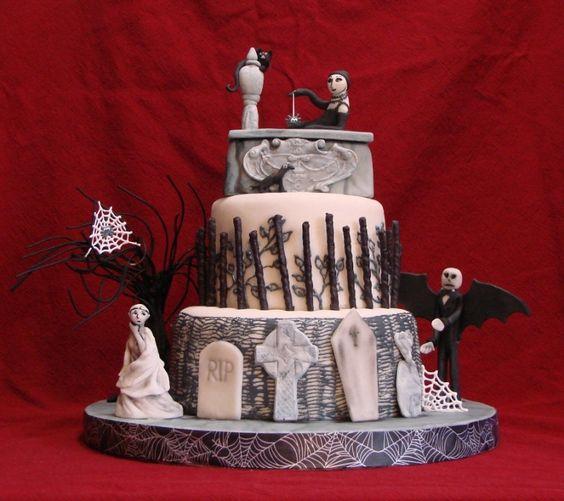 edward gorey wedding cake