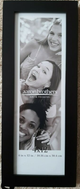 Aaron Brothers 4 X 12 Linear Black Photo Frame 400012955266 Ebay In 2020 Black Photo Frames Photo Frame Frame