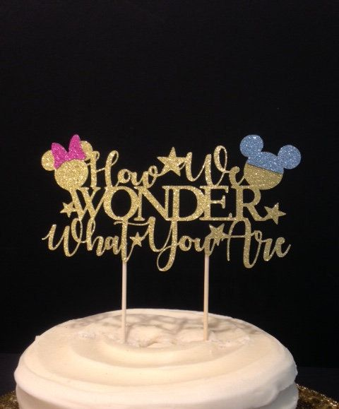 Pin By Amelia Young Sanders On Gender Reveal Gender Reveal Cake Topper Gender Reveal Party Decorations Baby Gender Reveal Party