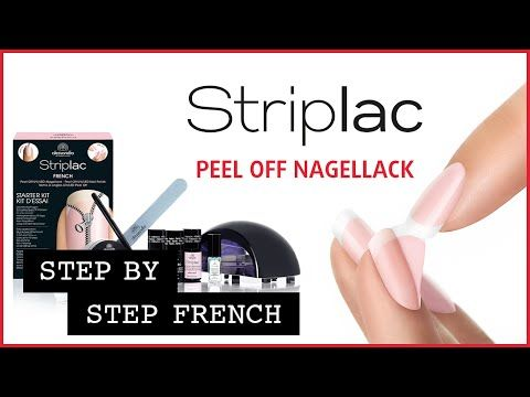 Peel Off UV Nagellack French Tutorial - French Nagellack zum abziehen - YouTube