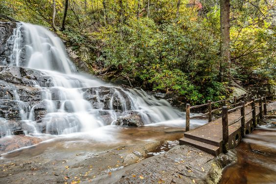 Laurel Falls in the Great Smoky Mountains - A beautiful hike with an amazing waterfall at the end.