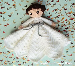 Princess Leia mini doll or blankie for child - free crochet pattern.