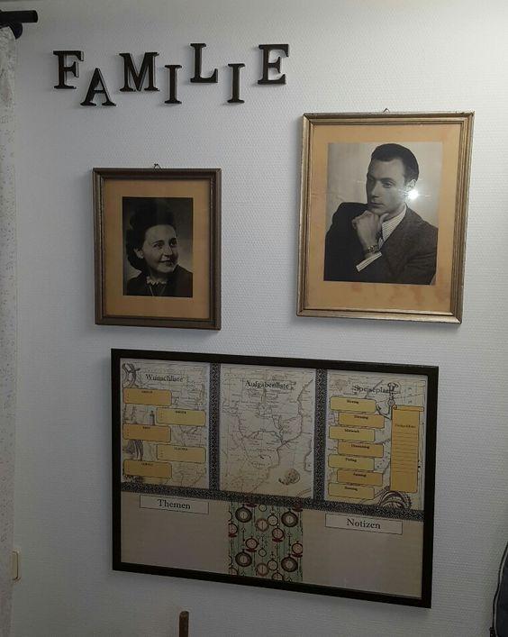 Family Memo Board aus Ikea-Bilderrahmen - alles auf einen Blick: Speiseplan & Aktivitäten & jede Menge Platz für Notizen immer aktuell durch abwischbare Stifte