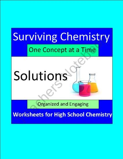 Solutions Organized And Engaging Worksheets For High