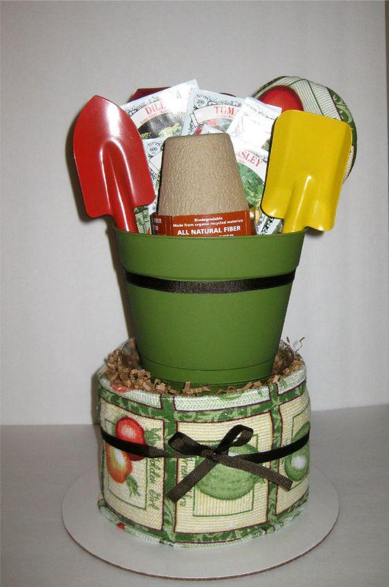 Kitchen Gift Ideas: Herb Garden Kitchen Towel Cake. $35.00, Via Etsy